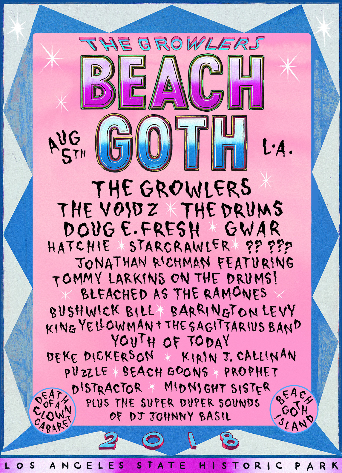 the Growlers Beach Goth Los Angeles CA August 2018